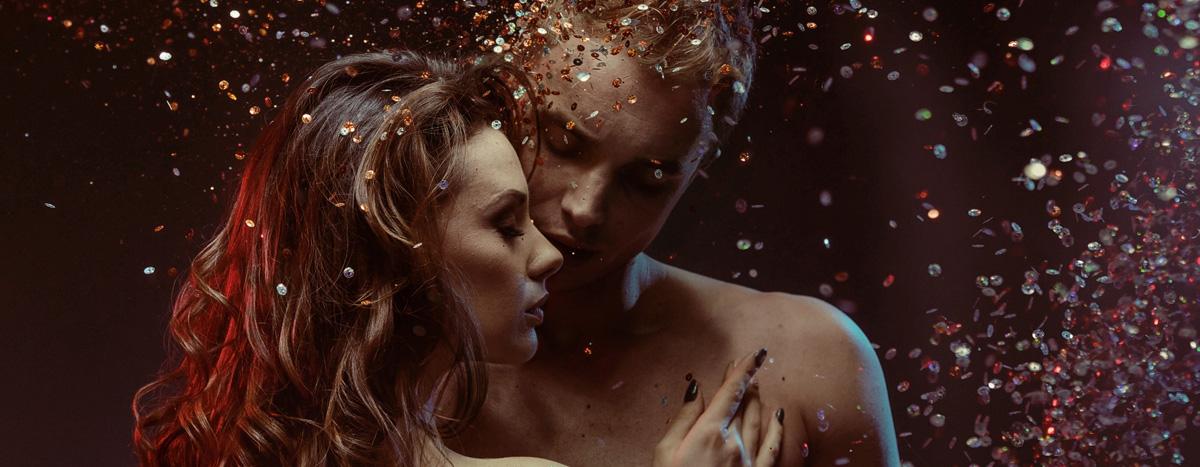 Couple sensuel, image du bonheur