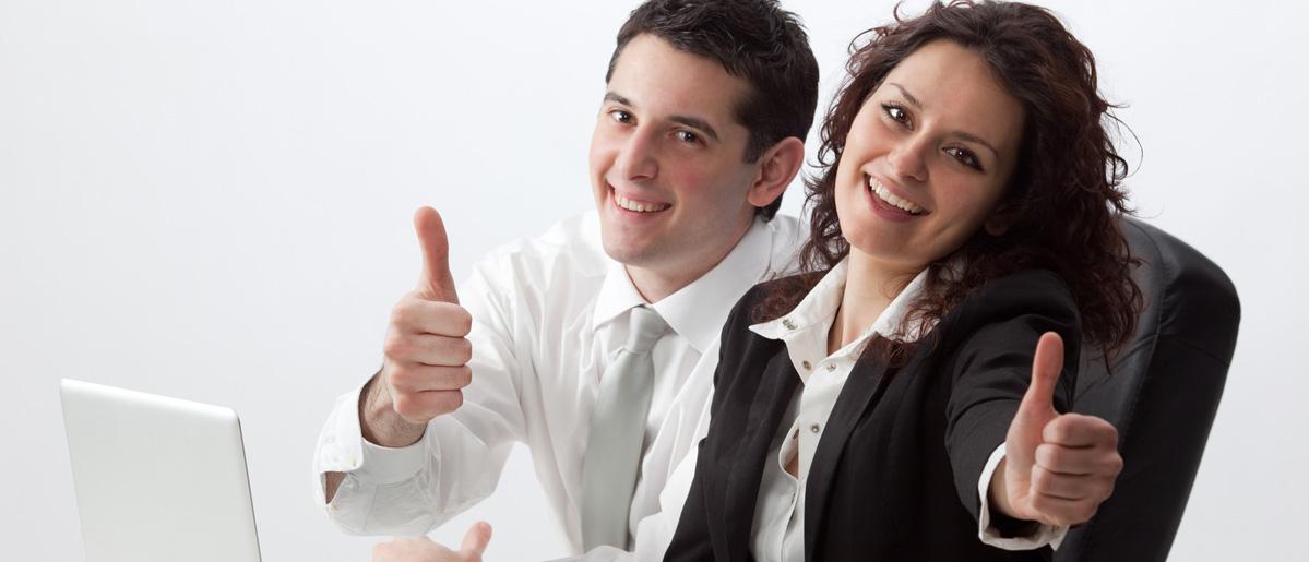 Couple au travail ensemble